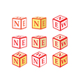 cube icons New vector image vector image