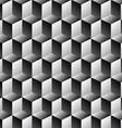 Cubes rows optical background vector image