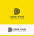dg abstract letter brand monogram logo template vector image vector image