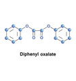 diphenyl oxalate ester vector image vector image
