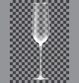 empty champagne glass on transparent background vector image vector image