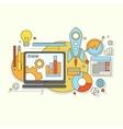flat design website development graphic design vector image vector image