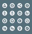 flat style various social network actions icons vector image vector image