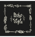 Frame square drawn in chalk in boho style vector image