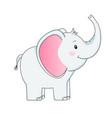 funny grey elephant children vector image vector image