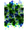 Green and blue transparent flowers vector image vector image