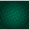 Green vintage floral seamless pattern vector image vector image