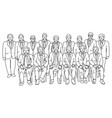 group businessmen together with teamwork vector image vector image