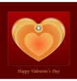 Heart jewelry vector image vector image