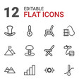 high icons vector image vector image