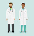 hospital staff concept couple of man and woman vector image vector image