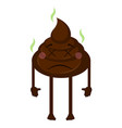 isolated poop emoji vector image
