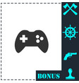 joystick icon flat vector image