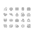 line law and justice icons vector image