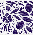 linear floral seamless pattern vector image vector image