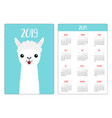 llama alpaca face neck tongue simple pocket vector image