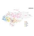 map coffee growing regions honduras vector image vector image