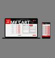 modern japanese food web shop template vector image vector image