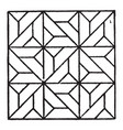 Modern square panel is a parquetry design of a
