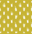 monochrome seamless pattern with summer soft vector image