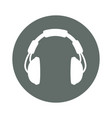 music headphones round icon vector image vector image