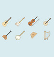 music instruments icons set 09 vector image vector image