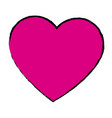 pink love heart romance valentine beauty vector image vector image