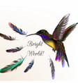 realistic humming bird for design vector image