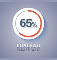 Round progress bar vector image vector image