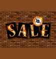 sale golden text vector image vector image