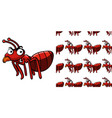 seamless background design with red ant vector image vector image