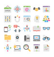 seo and digital marketing colored icons 10 vector image vector image