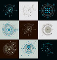 set of abstract backgrounds created in bauhaus vector image vector image