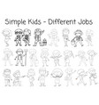 set of doodle character vector image vector image