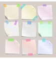 Stick note papers set vector image vector image