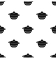 Stockpot icon in black style isolated on white vector image vector image