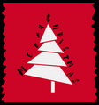 stylish funny christmas tree vector image