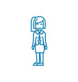 successful businesswoman linear icon concept vector image vector image