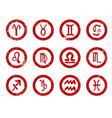 sun sign rubber stamps vector image