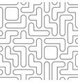 tetris lineart seamless pattern vector image