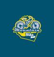 the emblem of the mountain bike sport bike logo vector image vector image