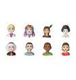 the human race icons in set collection for design vector image
