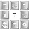 thunderstorm globe snowfall drop umbrella recycle vector image vector image