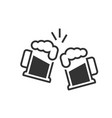 toasting beer glasses icon vector image vector image