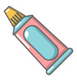 toothpaste tube icon cartoon style vector image vector image