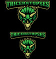 triceratopses mascot logo vector image vector image