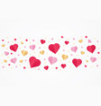 valentines day red and gold paper cut heart shape vector image vector image