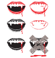 vampire lips vector image vector image