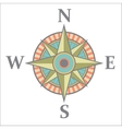 Wind rose with color vector image vector image