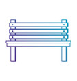wooden park chair icon vector image vector image